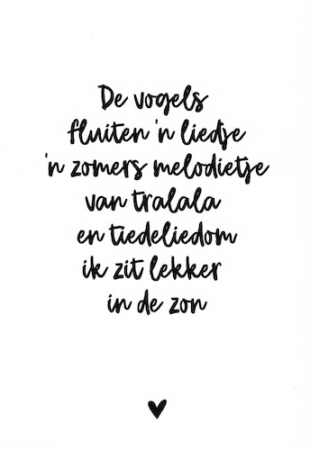 Zomers melodietje